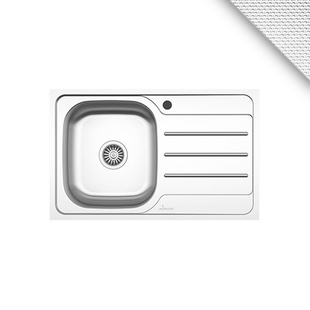 CHIUVETA INOX 2131.BSL-XXL 800x500 1C1P ST.LN SANOBI (1/1)